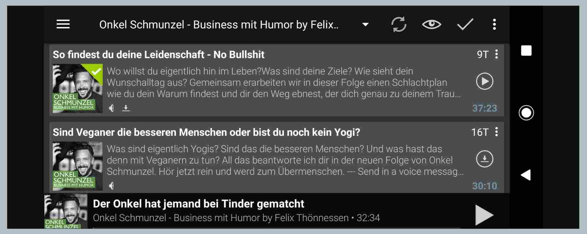 Onkel-Schmunzel-Podcast (Podcast-App-Ansicht)