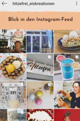 Screenshot Instagram: Feed einer Eisdiele