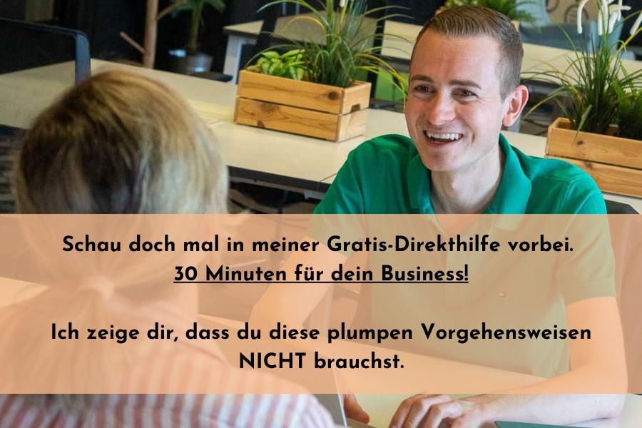 Marketing Direkthilfe Gespräch mit Frederik Schafmeister